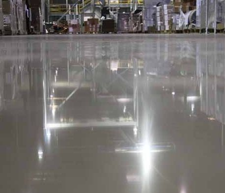 warehouse polished concrete